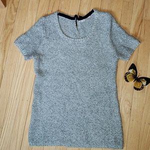 GAP Gray Short Sleeve Sweater, Size Extra Small